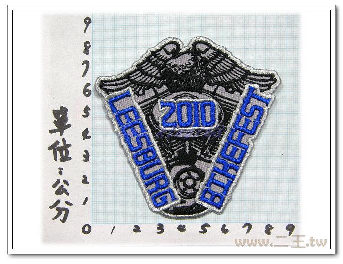 2010美國機車騎警臂章-8-18☆★電繡臂章☆★刺繡臂章☆★識別章☆★軍用品