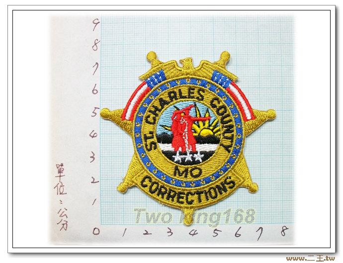 美國聖查爾斯郡矯正所-國外71-台灣製造外銷國外臂章.數量有限值得珍藏