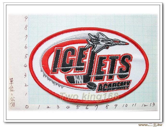 美國冰上曲棍球冰凍噴射隊(大)-國外96-台灣製造外銷國外臂章.數量有限值得珍藏