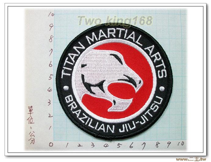 巴西柔術.泰坦會館-國外91-台灣製造外銷國外臂章.數量有限值得珍藏