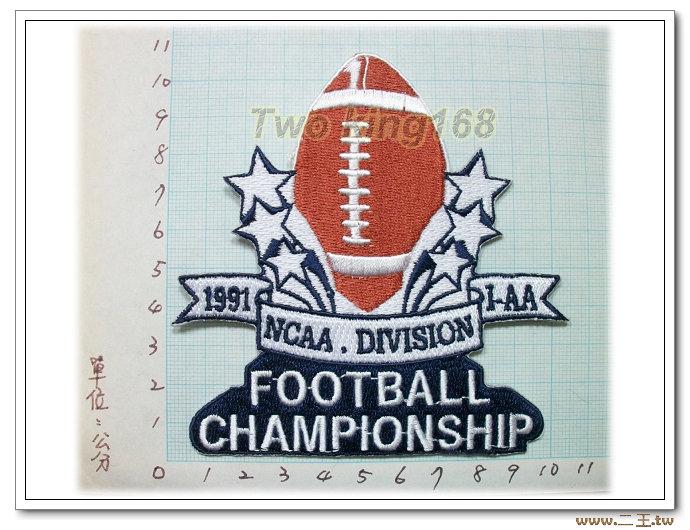 1991年美式足球冠軍-國外86-台灣製造外銷國外臂章.數量有限值得珍藏