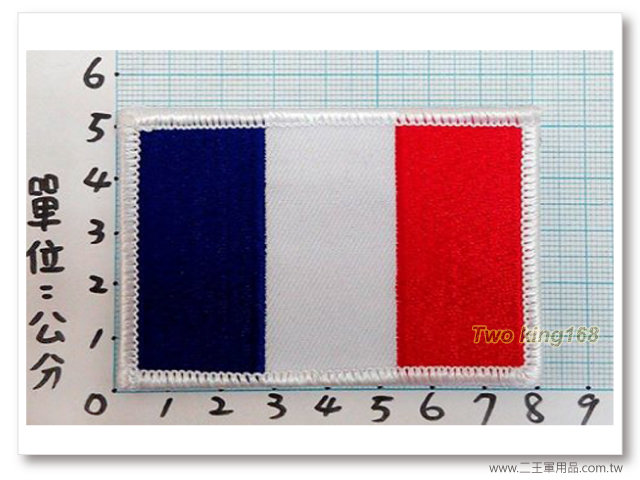 ☆★  ★☆ 法國國旗臂章(5x8)