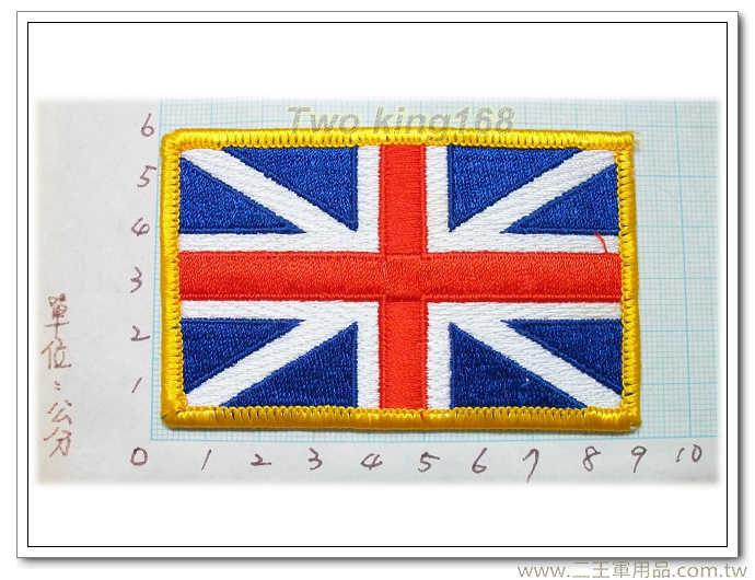 英國國旗臂章(黃邊)國外國旗臂章12-17-2