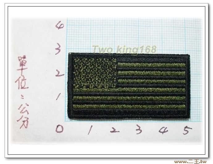 5-18美國國旗小型O.D版 臂章 低視度 美軍