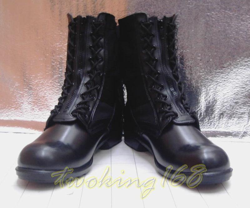 ★☆黑色帆布戰鬥靴(附拉盤)☆★Cosplay☆★保全☆★ 軍靴 草綠服