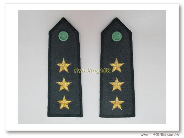 國軍80年代早期 陸軍上將 (金蔥繡線) 軍便服肩章 一付140元