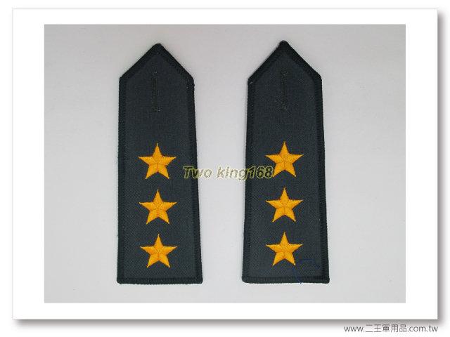 國軍70年代早期 陸軍上將 (黃色繡線) 軍便服肩章 一付140元