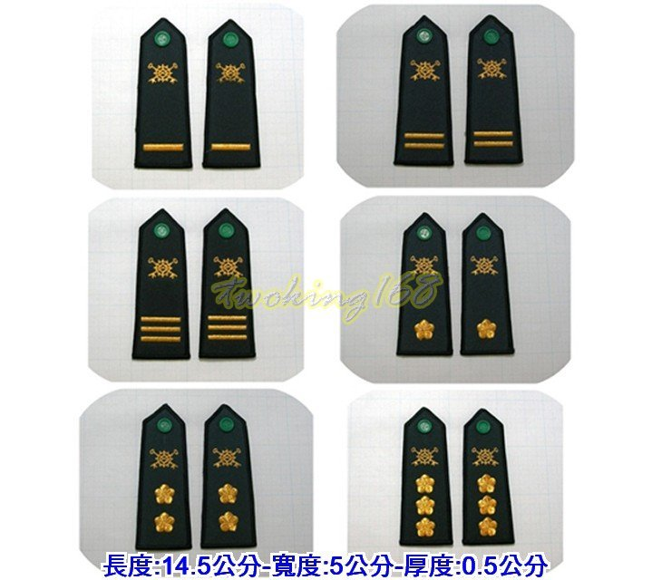 ★☆軍便服肩章系列-經理兵科★☆Cosplay☆陸軍★☆軍便服★國軍 教官