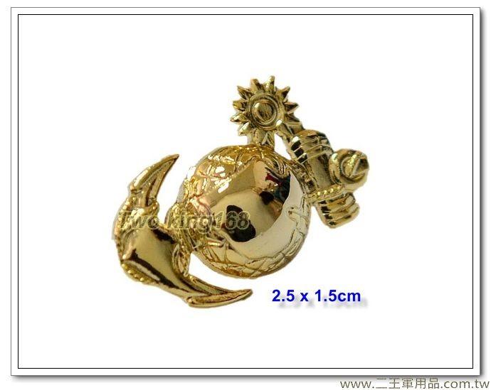 海軍陸戰隊帽徽(紀念徽章)(小)(金色銅質)【bn19-7】