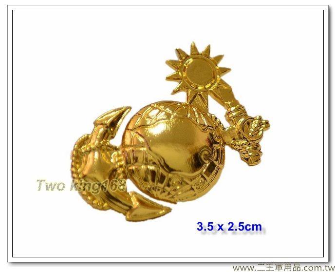 海軍陸戰隊帽徽(金色鋁質)【bn19-6】