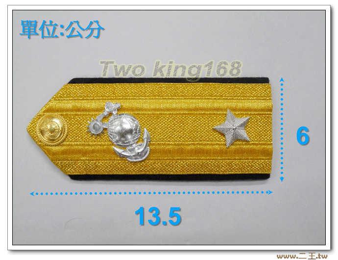 海陸少將軍常服肩章