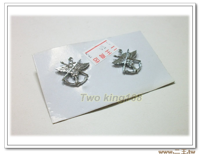 ★☆海軍政戰兵科領章(銀色銅質) bn20-3★國軍 軍裝☆海軍★軍便服