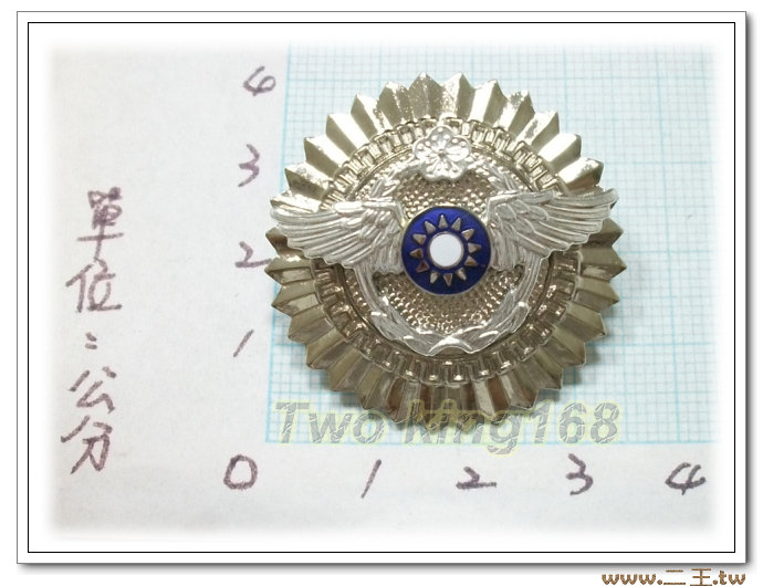★☆空軍軍官年資徽(20年-銀色銅質)bf2-1★國軍 軍裝☆軍便服 軍常服