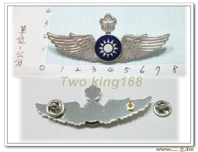 ★☆空軍資深級飛行胸章(鋁質) bf6-1★國軍 軍裝☆軍便服 軍常服
