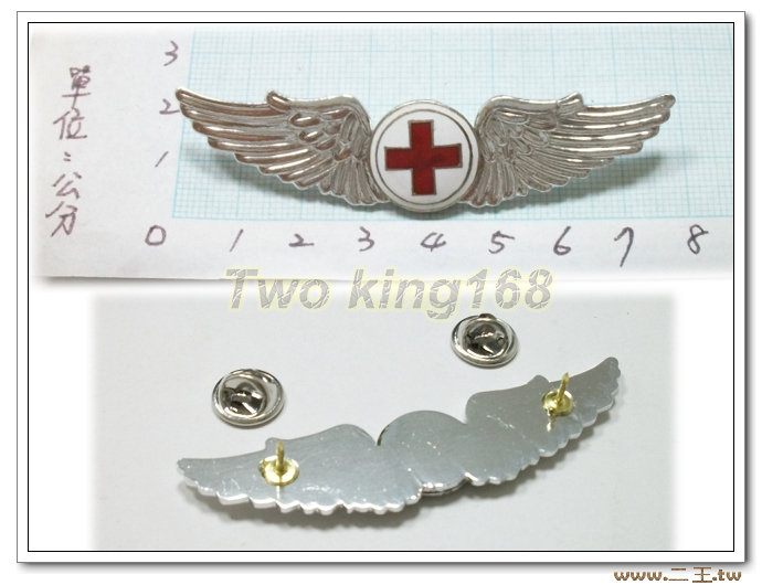空軍航護初級飛行胸章(鋁質)bf7-3☆飛行胸章 ★國軍 軍裝☆軍便服 軍常服