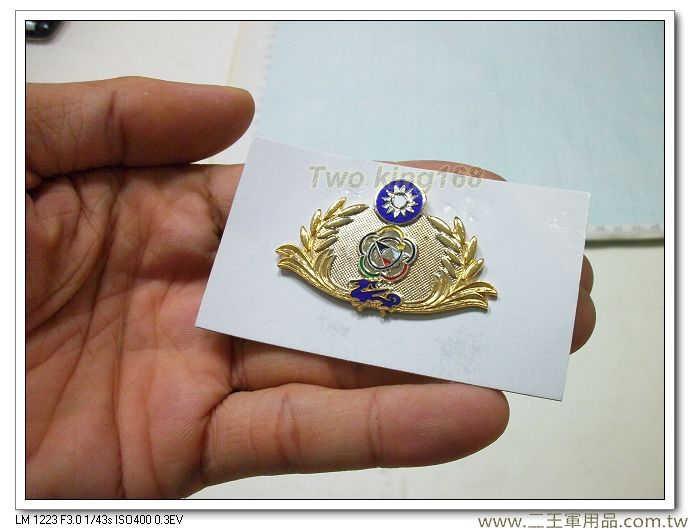 海岸巡防署胸章-海巡署年資章-海巡署榮譽徽章-第二代(金銀色-琺瑯銅質)