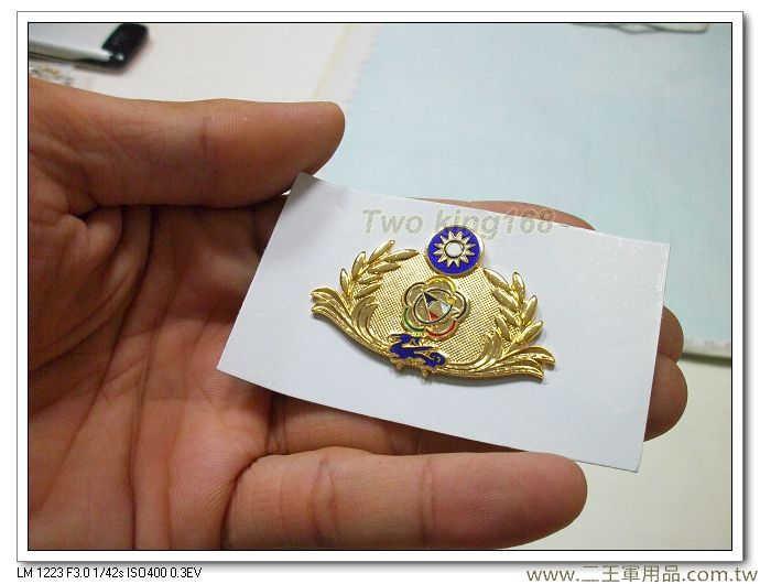 海岸巡防署胸章-海巡署年資章-海巡署榮譽徽章-第二代(金色-琺瑯銅質)
