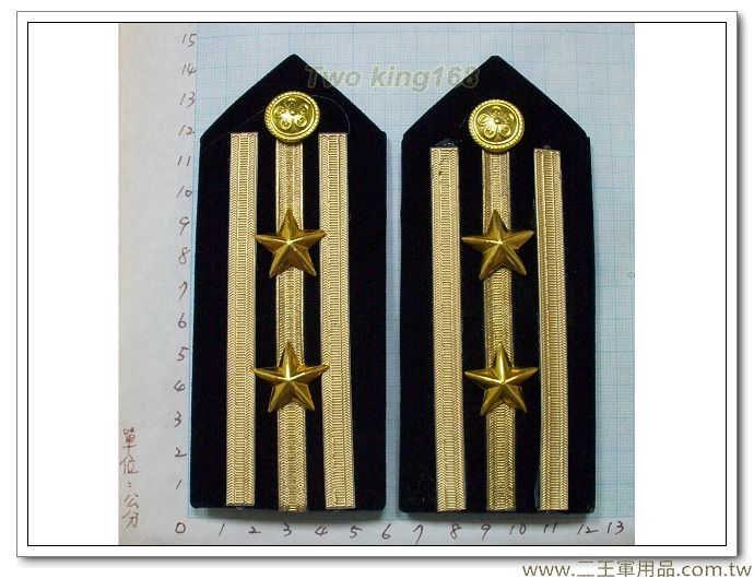 海巡硬式肩章-海巡肩牌-海巡階級-上校-警監四階(三線二星)