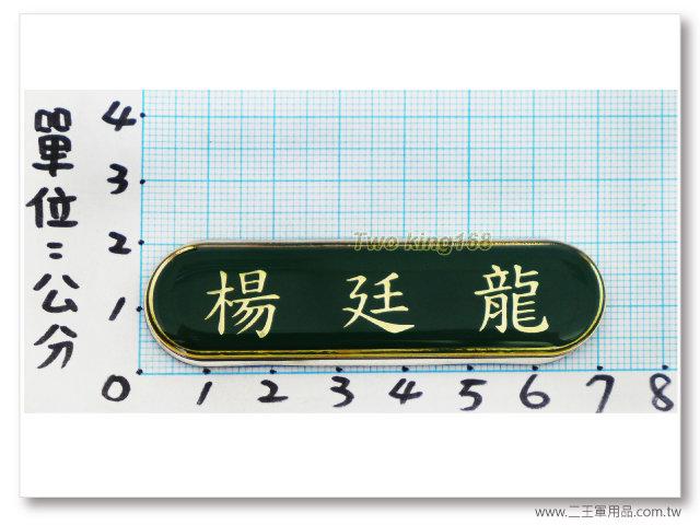 -士官兵軍便服名牌-綠色軍便服名牌(由左到右)(磁鐵)一次兩片220元