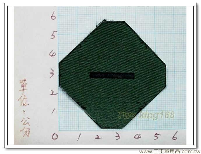 國軍數位迷彩服領章-新式布領章-軍用領章-少尉-5元