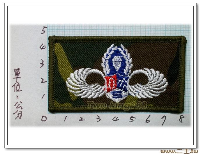 鐵漢胸章(迷彩布底)臂章2-50-2☆空特 空降特戰