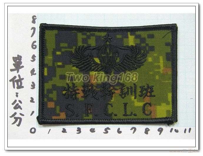 特戰幹訓班胸章(數位迷彩)4-13-3☆空特 空降特戰 臂章