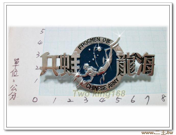 海龍蛙兵胸章(鋁質)ba14-2 陸軍兩棲偵察營