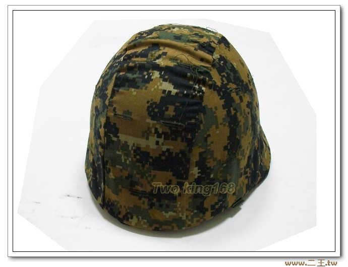美軍陸戰叢林數位迷彩頭盔偽裝帽套