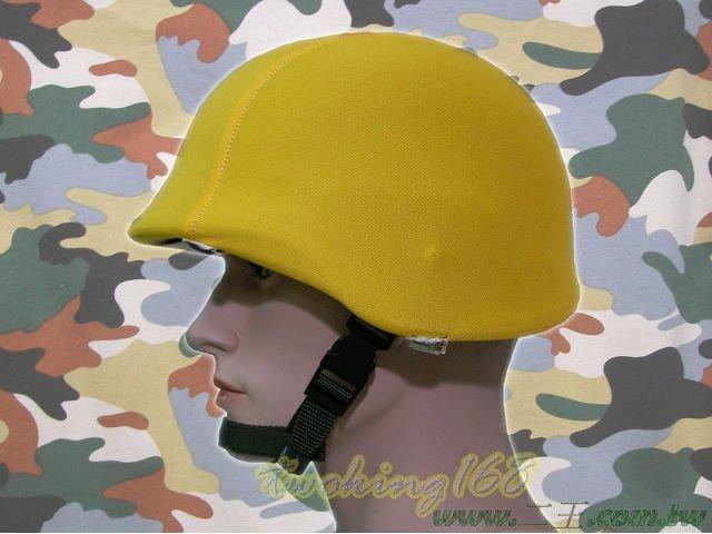 ★☆黃色鋼盔識別帽(魔鬼氈)★盔布 凱夫勒 功夫龍 M88 鋼盔