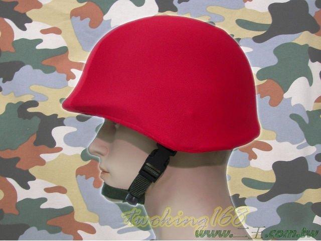★☆紅色鋼盔識別帽(鬆緊式)★盔布 凱夫勒 功夫龍 鋼盔