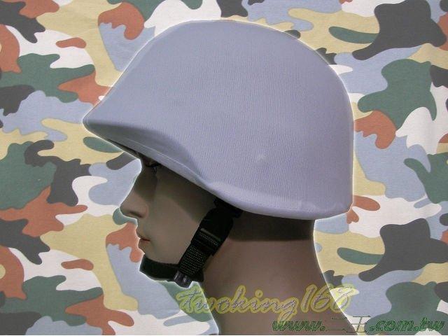 ★☆白色鋼盔識別帽(鬆緊式)★盔布 凱夫勒 功夫龍 鋼盔