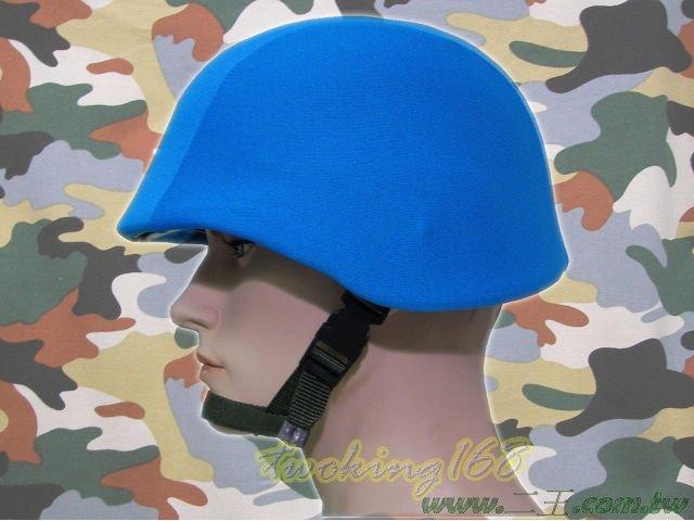 ★☆水藍色天藍色鋼盔識別帽(魔鬼氈)★☆功夫龍★盔布 凱夫勒 聯合國 維和部隊