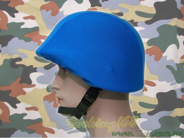 ★水藍色天藍色鋼盔識別帽(鬆緊式)☆功夫龍★盔布 凱夫勒 聯合國 維和部隊
