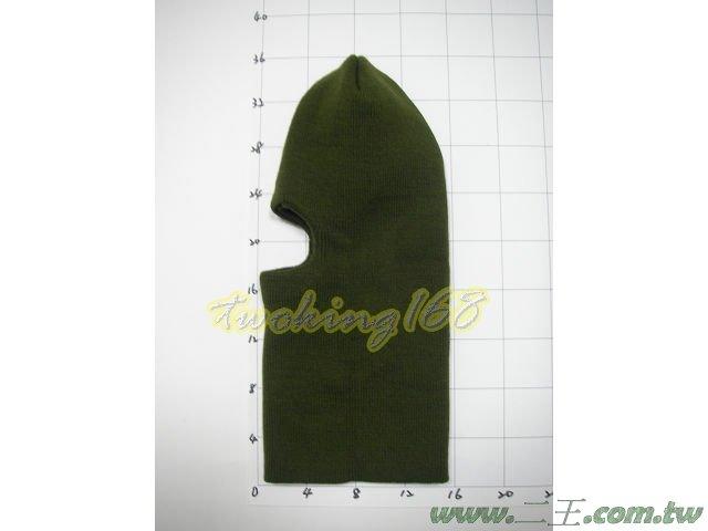 ★☆綠色綿質防寒單孔頭套★霹靂小組 特警 SWAT 登山