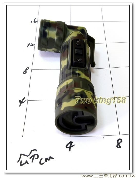 軍用手電筒(小)(迷彩)LED彎頭手電筒1200型-200元
