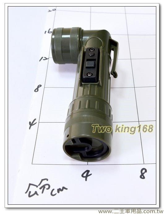 軍用手電筒(小)(草綠)LED彎頭手電筒1200型-180元