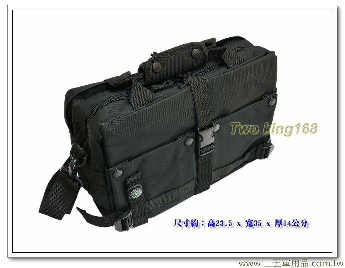 軍用多功能手提肩背包(黑色) (S-013)