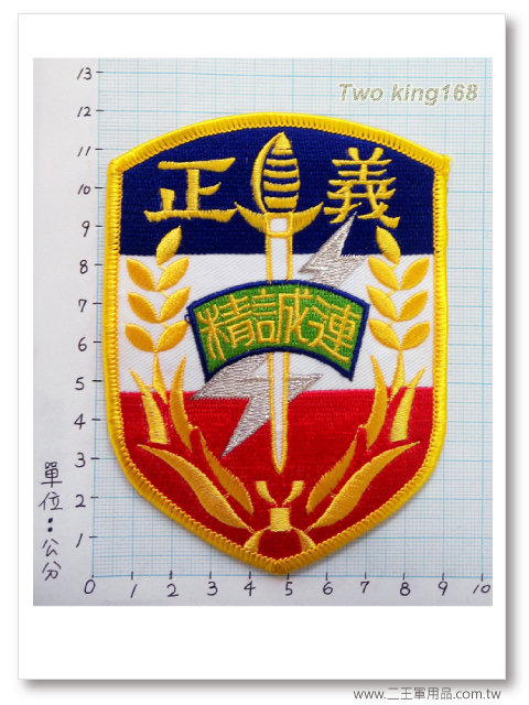 陸軍花防部(正義)精誠連臂章【B-20】95元