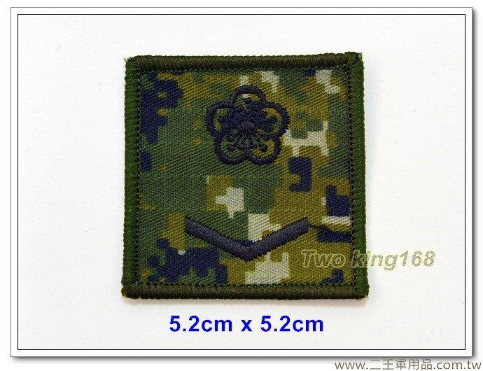 5公分階級識別章(二兵)(國軍數位迷彩底)(含魔鬼氈)35元