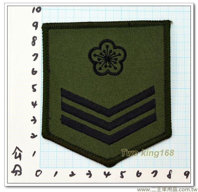 陸軍數位迷彩服階級臂章(上兵)(綠邊) 一片10元