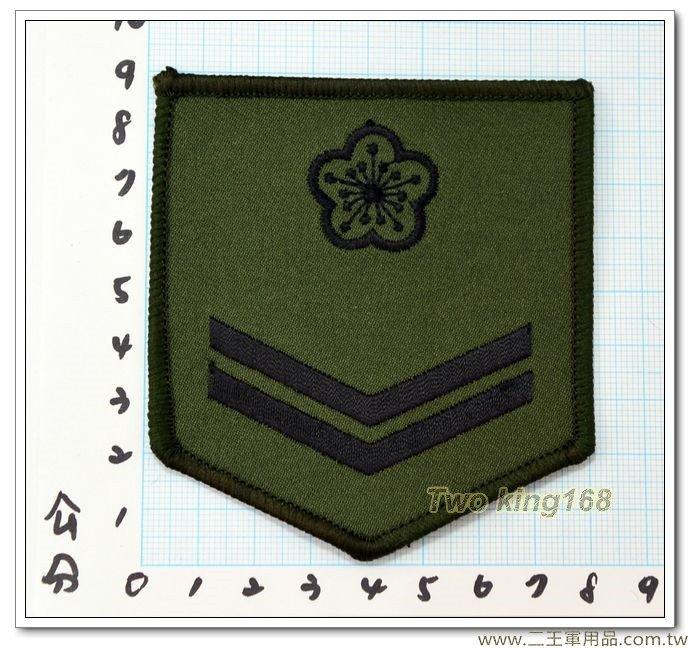 陸軍數位迷彩服階級臂章(一兵)(綠邊) 一片10元