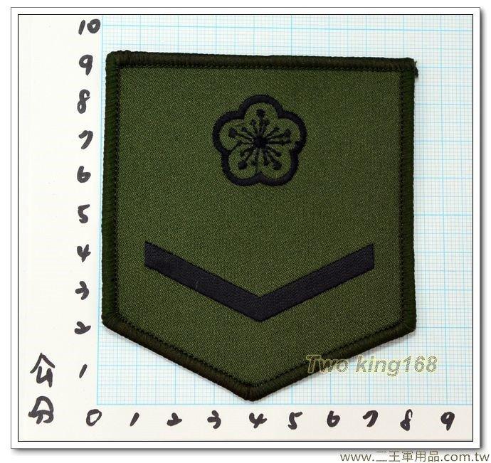 陸軍數位迷彩服階級臂章(二兵)(綠邊) 一片10元