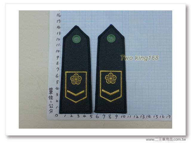 -中華民國80年國慶閱兵華統演習-陸軍軍便服肩章-二兵-120元