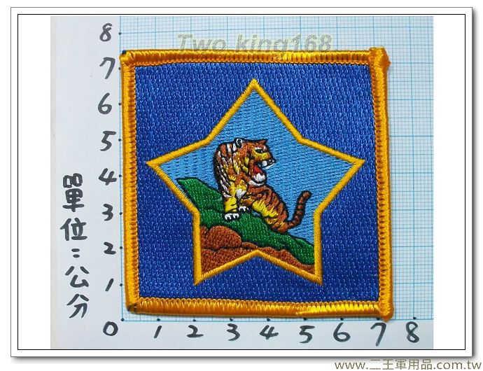 金東守備隊-5-4(虎軍部隊)四角型明視度-40元 國軍 陸軍 臂章