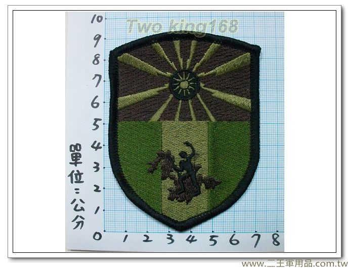 ☆東引指揮部-19-8-1(忠義部隊)(盾形低視度)-30元 臂章 迷彩服
