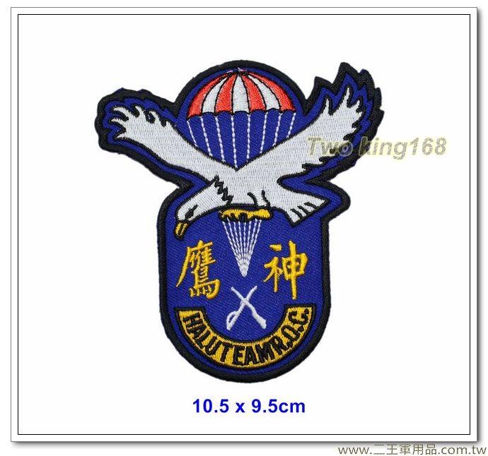 早期中華民國陸軍神龍特種部隊臂章 #神鷹小組(老鷹圖案) #傘兵【國內C-13】