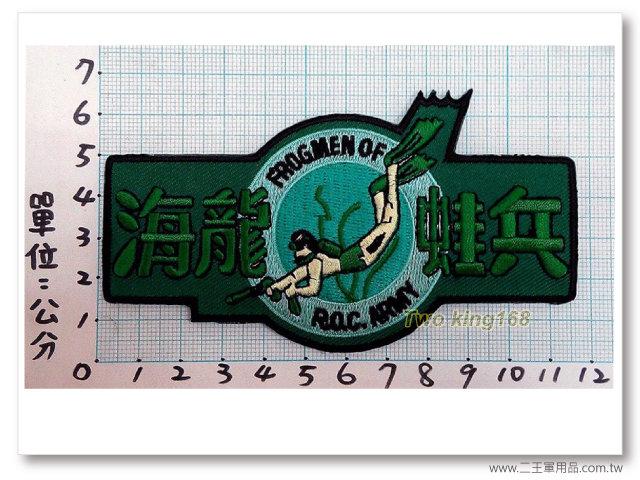 ★☆海龍蛙兵臂章(亮綠大) 低視度★☆國內1-16-1★☆陸軍