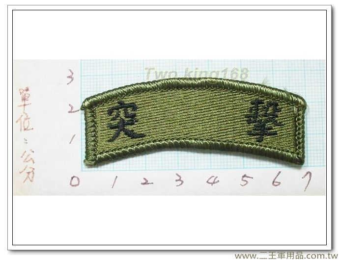 傘兵突擊訓榮譽章-傘兵突擊低視度臂章 迷彩服 國軍 陸軍