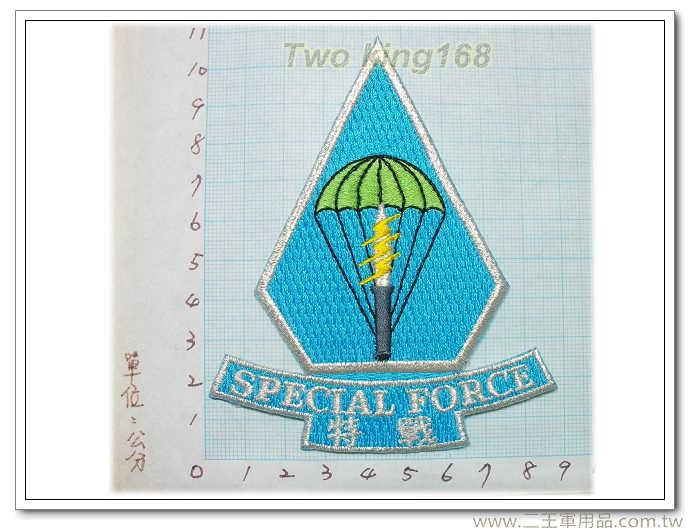 陸軍特戰862旅臂章(中文)(銀邊)國內92-6★☆航空特戰★☆傘兵