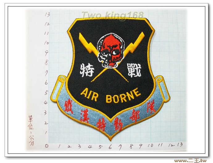 國內60-1★☆鐵漢特勤部隊戰★☆航空特戰傘兵 臂章